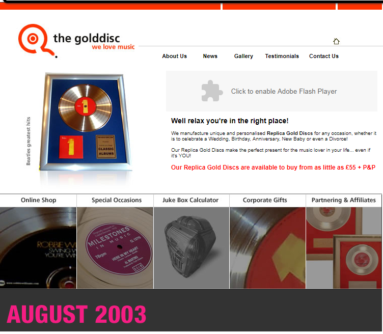 The Second Gold Disc Website